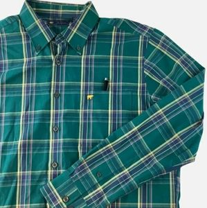 Jack Nicklaus Mens Long Sleeve Buttoned Green L